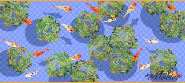 Lilac Baby Cashmere Scarf Shawl Koi Pond Macte View 5