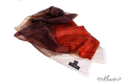 Edith Brown Cashmere Scarf Wrap Macte View 1