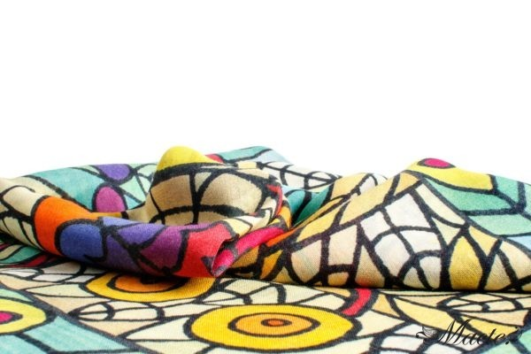 Multicolor Pashmina Shawl Birds of Paradise Macte View 6