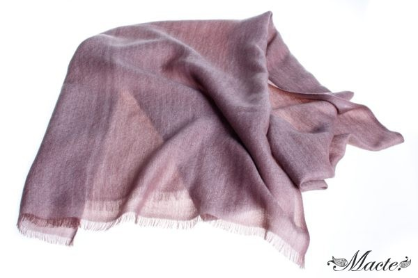 Rose Reversible Cashmere Shawl Barbara, Macte View 1
