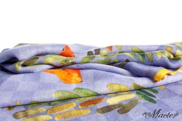 Lilac Baby Cashmere Scarf Shawl Koi Pond Macte View 2