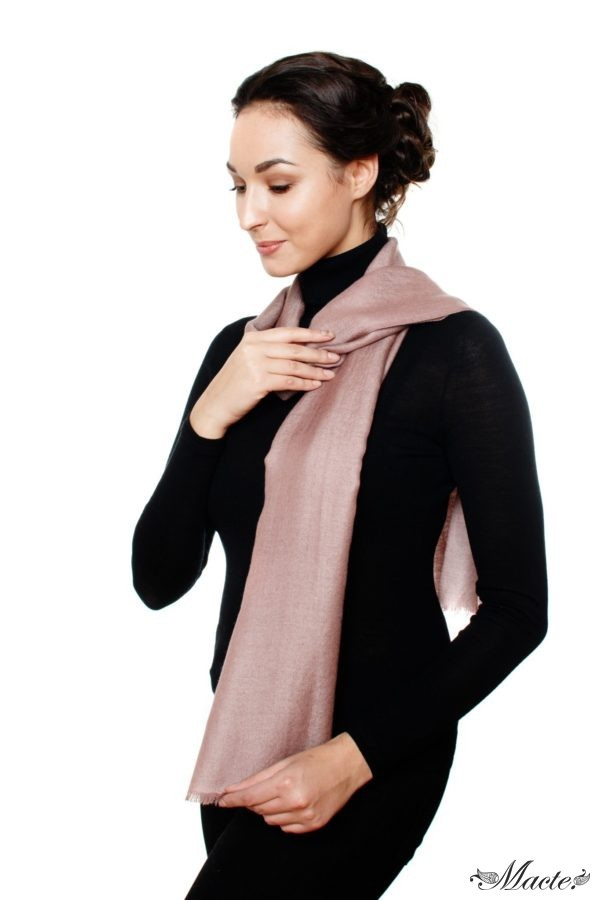 Rose Reversible Cashmere Shawl Barbara, Macte View 3