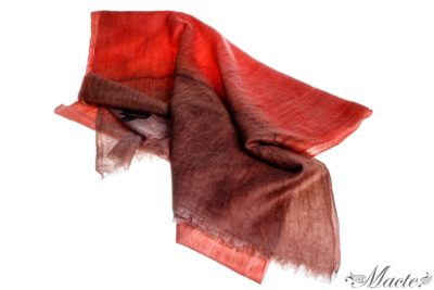 Edith Red Cashmere Scarf Wrap Macte View 1