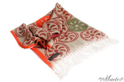 Beige Printed Scarf Shawl Endless Path Macte View 1