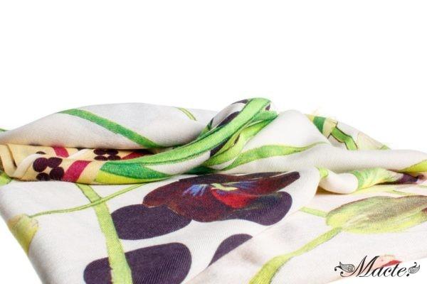 Pink Cashmere Silk Wrap Cosmic Tulips Macte View 2
