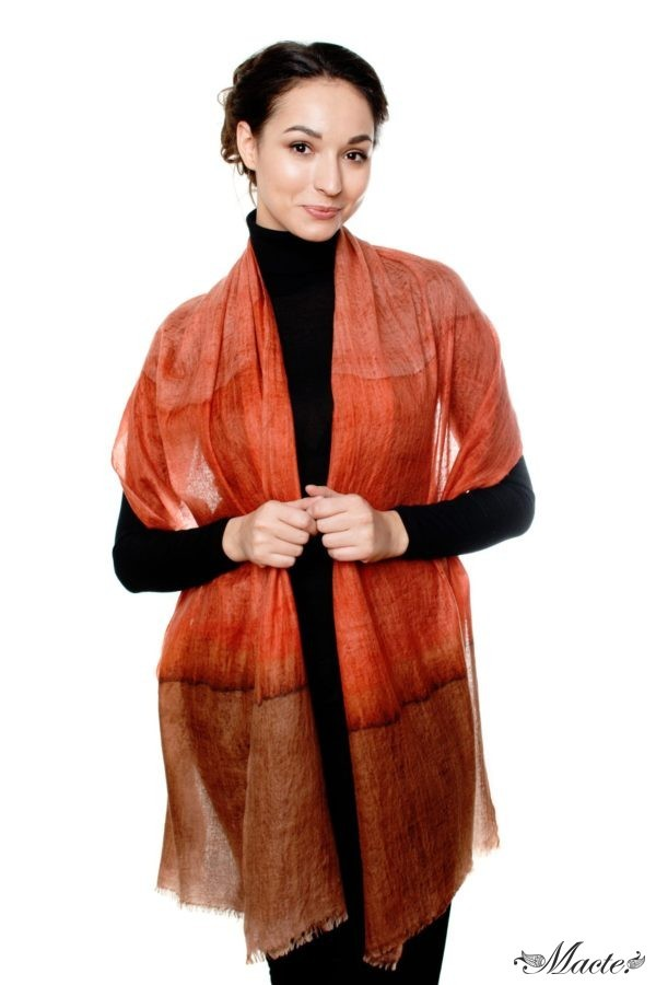 Edith Red Cashmere Scarf Wrap Macte View 3