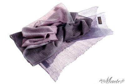 Edith Violet Cashmere Scarf Wrap Macte View 1